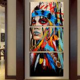 Art en toile Imprimé Les indiens Peintures en plumes Toiles en toile Décor en salle Affiche Impression Photo Photographie Art Wall Wall Mc-002