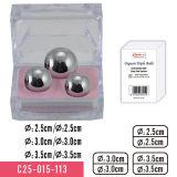 De Drievoudige Ballen van het orgasme in Roestvrij staal voor Buitensporige Transparante Container Massager