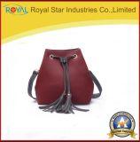 Únicos sacos práticos vermelhos da forma do ombro
