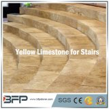Cream Limestone Floors and Stairs for Outdoor and Indoor Stair Steps