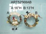 Figura grinalda do Feliz Natal da família, decoração 2asst-Christmas