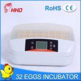 Holding 32 van de Incubator van het Ei van Hhd Nieuwste Model Automatische Eieren