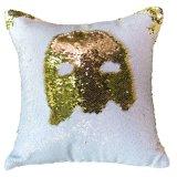 De gouden Witte Dekking van het Hoofdkussen van de Meermin van het Huis Decoratieve