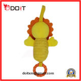 Brinquedos feito-à-medida do bebê do carrinho de criança amarelo do urso da luz do sol com música