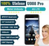Цвет черноты телефона 5.0 франтовских 3500mAh Android 6.0 сердечника квада телефона Mtk6737 ROM 4G FDD-Lte RAM 16g дюйма 2g Ulefone U008 ПРОФЕССИОНАЛЬНЫЙ франтовской
