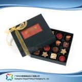 Caixa de empacotamento do chocolate dos doces da jóia do presente do Valentim com fita (XC-fbc-025)