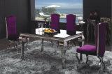 フォーシャンConglingのステンレス鋼のダイニングテーブルおよび椅子の家具セット