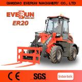 Nuovo caricatore multifunzionale della rotella da 2 tonnellate di Everun mini con il legamento rapido