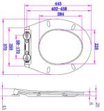 Eindeutige spezielle Entwurfs-Aushärtungs-Widerstand-Toiletten-Sitzkappe