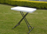 Offerta speciale Adjustable&#160 personale; Table  with  Metal  Supportare-Bianco