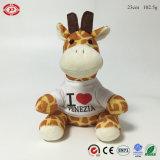 Het Zitten van de Giraf van de pluche het Jumbo Zachte Gevulde Dierlijke Stuk speelgoed van de Douane
