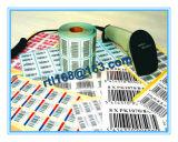 Kammerdiener-Drucken oder druckt den Barcode-Kennsatz und den Seriennummer-Barcode-Aufkleber