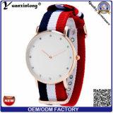 Muñeca de encargo del reloj del asunto de los hombres del cuero genuino de los relojes de la marca de fábrica del cuarzo del reloj de la insignia de la manera de las mujeres de los hombres Yxl-240