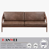 Sofa en bois de salle de séjour de noix de chêne de hêtre de tissu moderne de maison