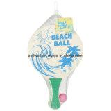 浜のPaddleball標準的なラケットは2つの球、2本の厚い防水木ラケット、1つの再使用可能な純袋とセットした