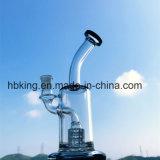 Труба водопровода миниой цветастой перевозкы груза барботера буровой вышки дна Beaker свободно стеклянная куря