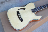 Hanhai Musik/ursprüngliche hölzerne Farben-elektrische Gitarre mit EQ Aufnahme