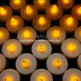 Vela amarilla del LED Tealight para la decoración Cr2032 del partido de Chismas con pilas