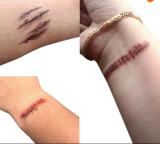 Víspera de Todos los Santos de moda marca con una cicatriz etiquetas engomadas temporales impermeables del tatuaje de la carrocería
