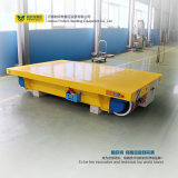 Carro de transferência do trilho das cargas pesadas com as rodas especializadas do aço do guindaste