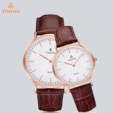 Kundenspezifische Firmenzeichen-Großverkauf-lederne Brücke-Mann-und Frauen-Uhr, heiße Verkauf Dw Art-Uhr 72178