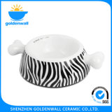 Bacia Eco-Friendly personalizada do animal de estimação da porcelana 1750ml