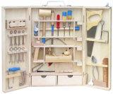 Caixa de ferramentas de madeira para brinquedos de madeira - 16 PCS
