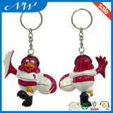 Borracha macia Keychain do PVC da forma 3D