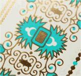 autoadesivo provvisorio impermeabile metallico blu del tatuaggio dell'oro di modo