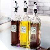 250ml, Fles van het Glas van de Olijfolie van de Rang van het Voedsel 500ml de Kokende, Sojasaus, de Fles van het Glas van de Azijn