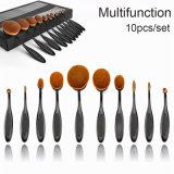 Il trucco ovale all'ingrosso dell'insieme di spazzola del Toothbrush del professionista 10PCS spazzola il kit