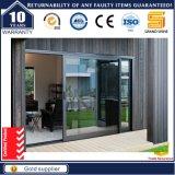 Sistema de porta de vidro deslizante de venda quente com armação de alumínio