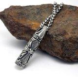 Retro Men Titanium Steel Necklace Pendant Moda Body Jewelry