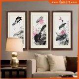 抽象的な景色のキャンバスの油絵3のパネルによって組み立てられる壁絵画