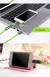 Plano colorido 2 em 1 Pin do cabo de dados 8 e micro com entrega de alta velocidade para iPhone7/7 mais/Samsung