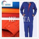 Tessuto dei pantaloni tinto 108X58 dei vestiti da lavoro 21X21 del tessuto 65/35 della saia di TC
