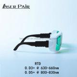 Laser-Schutz Eyewear/Laser Wellenlänge 630nm-660nm/800-830nm für Haar-Abbau-Maschinen-und Haut-Behandlungen
