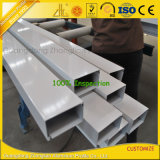 Tube rectangulaire en aluminium d'OEM avec le profil en aluminium d'extrusion