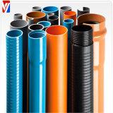 Tubo de agua claro de abastecimiento del PVC de la alta calidad 200m m