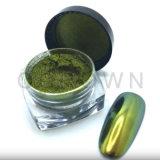 Scintillement vert pomme de poudre de colorant de perle d'art de clou de caméléon de couleur