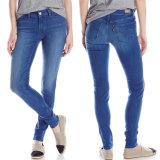 Vente en gros de mode Skinny Tight Cotton Ladies Denim Jeans