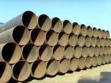 Pipe en acier soudée parArc spiralé laminé à chaud pour le passage liquide