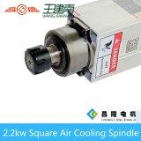 Мотор шпинделя маршрутизатора CNC охлаждения на воздухе Er25 2.2kw квадратный для деревянный высекать