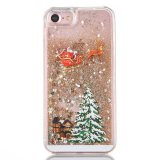 Cassa liquida del telefono mobile del Quicksand di scintillio del regalo della decorazione di natale per il caso di iPhone 7