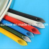 Fibra de vidrio resistente da alta temperatura del silicón que envuelve para los alambres eléctricos