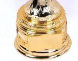 Troféu do ouro do tamanho médio para o segundo classificado do jogo da ponte