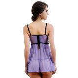Ropa interior atractiva de las mujeres de la ropa de noche de la ropa interior de la alineada del corsé con la G-Cadena