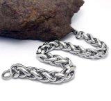 Men Cuban Bracelets Silver Black Stainless Steel Body Jewelry