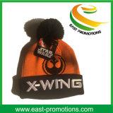 Personalizado acrílico con puño invierno sombrero hecho con la bola Top
