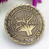 공장 가격 Handmade 승진 아연 합금 디자인 판매를 위한 자신 공백 인도 오래된 도전 기념품 동전